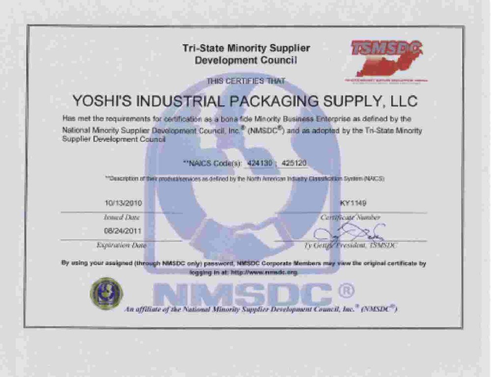 Home | Yoshis Industrial Packaging & Supply
